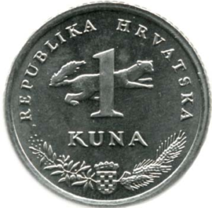 The animal behind the number is the kuna itself